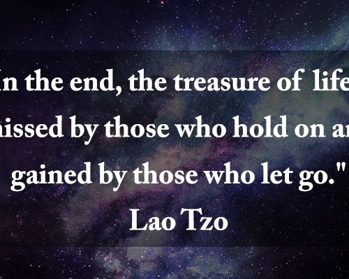 treasure in life lao tzo